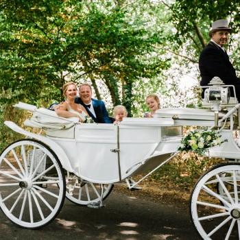 Bruidswerk koets - Foto: Liesbeth Gavriilakis fotografie