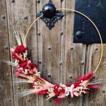 Doe-het-zelf pakket januari 2021 - Flower hoop met droogbloemen